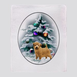 Norfolk Terrier Christmas Throw Blanket